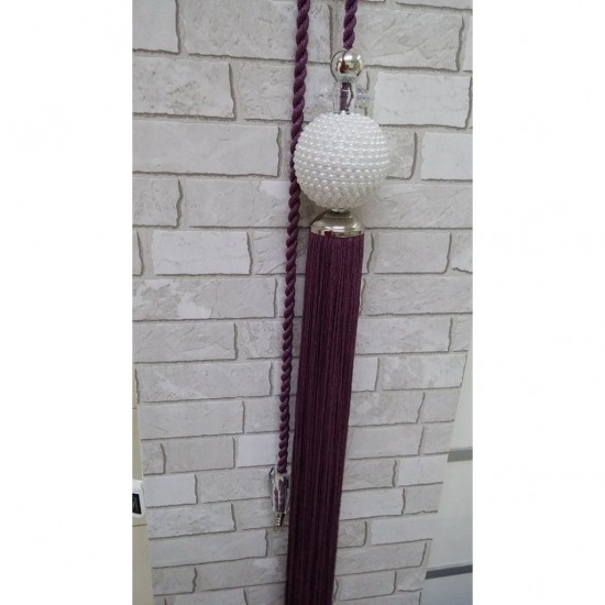 Decorative tassel - Curtain accessory in purple