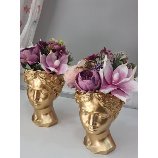 Art Deco Vase. Head Flower Pot. Venus Greek Goddess Statue Vase, Crafts Decoration