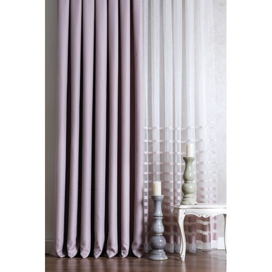 Ash Rose Custom Sheer Curtain
