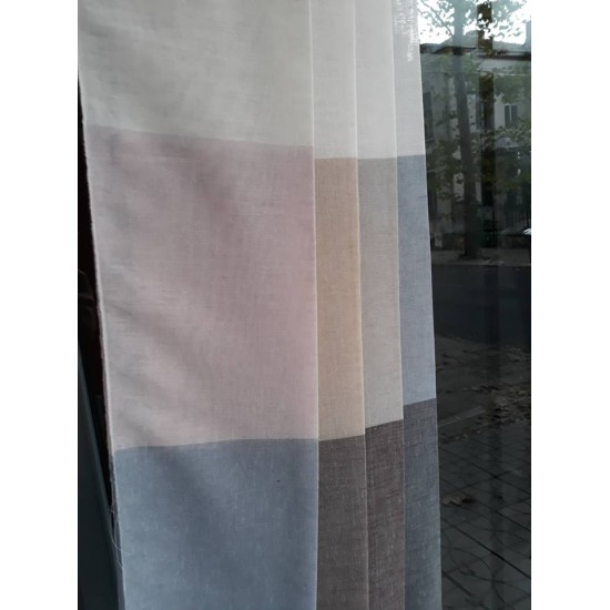 Textile for sheer curtains with ombre effect