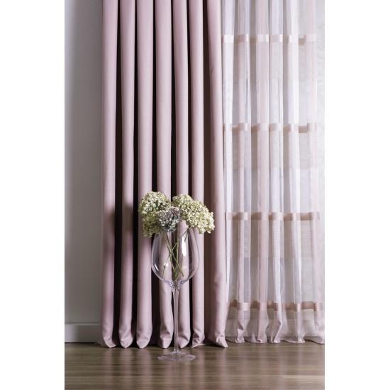 PINK sheer curtain fabric
